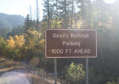 Devils Bathtub photo of sign