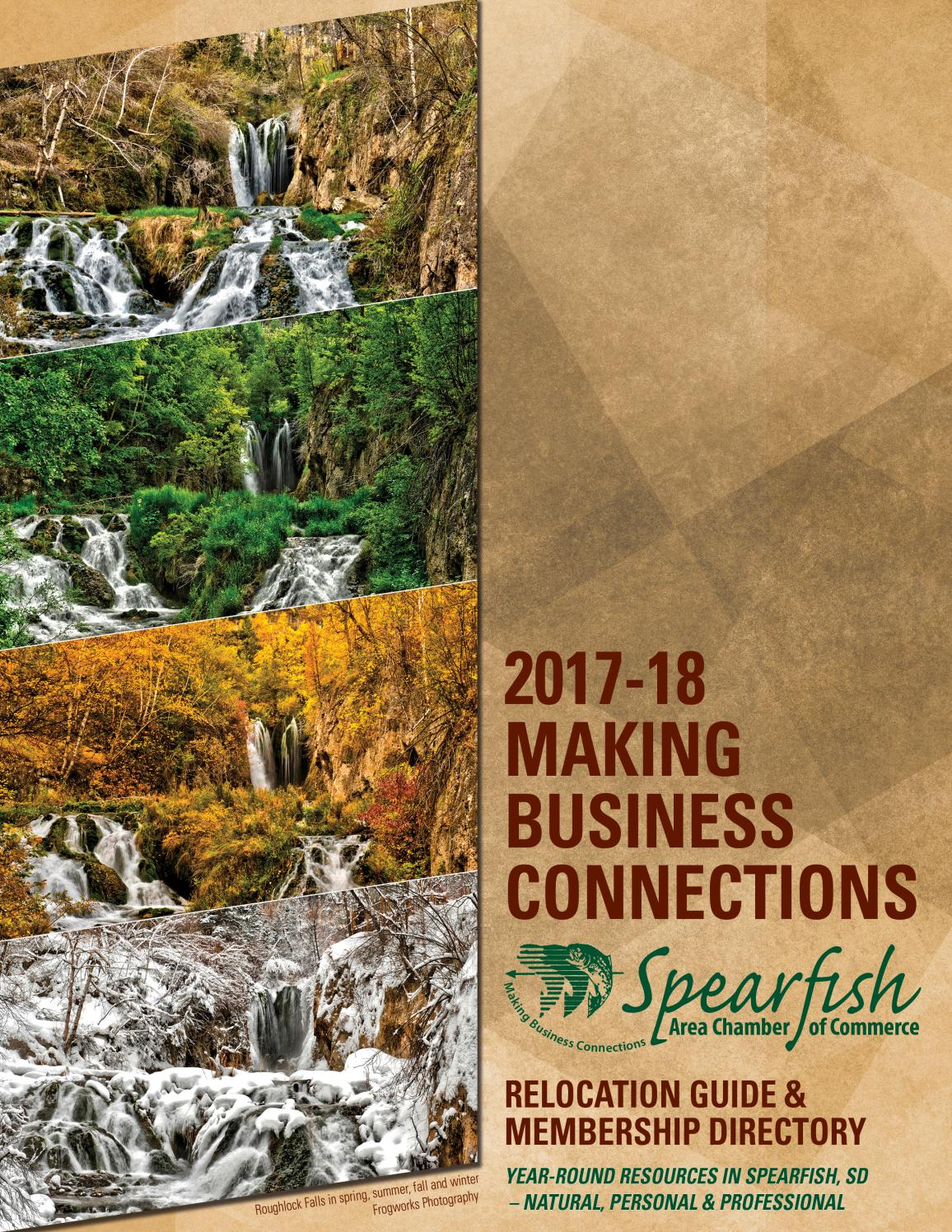 Making Business Connections is the official annual magazine, membership directory and relocation guide for the Spearfish, SD, Area Chamber of Commerce.