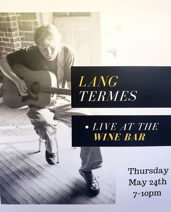 The weather couldn't be more perfect for the start of our Thursday night music series! Come on out and enjoy some great music from Lang Termes on our back patio! #spearfishcreekwinebar #downtownspearfish #livemusic