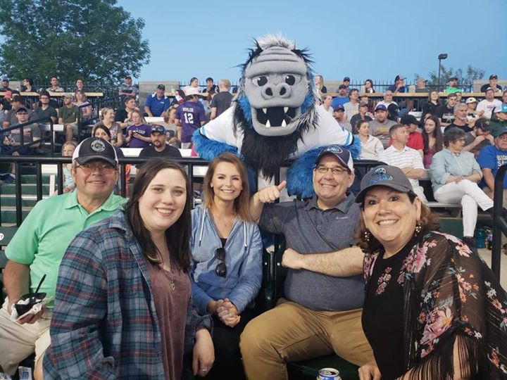 Spearfish Economic Development Corporation and the Spearfish Chamber are enjoying some great staff bonding at the first Spearfish Sasquatch game! What a great addition to our town. #gosquatch