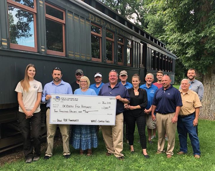 Check presentation day at the DC Booth National Historic Fish Hatchery and Archives! $2,000 was raised with Ford's Drive 4UR Community Event for the Hatchery. Thank you to everyone who came out for a test drive. The donation was well received and will help with some much needed projects.