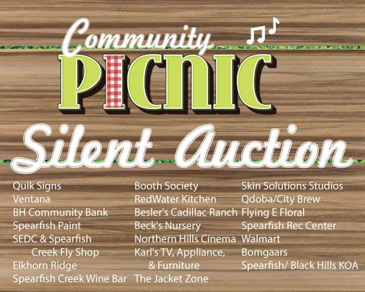 We have some amazing silent auction items! Check them out at the Community Picnic next Wednesday.