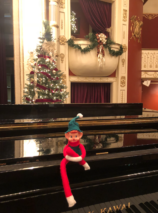 "Marv is totally jazzed to spend the holidays at The Matthews Opera House & Arts Center!  The ""A Green Dolphin Jazzy Christmas""  is nearly sold out for Friday, December 14th! Hurry, secure your ticket before you miss out on this holiday treat.  The Green Dolphin is a local jazz quartet featuring: Christopher Hahn, Janeen Larsen, Terry Rathbun, and Gary Renner. This jazz concert is sure to bring the holiday spirit to all of our patrons. Many traditional jazz songs will be performed along with many more standard and contemporary tunes. The stage is being shared with very special jazz musician friends: Jami Lynn, Ward Johnson, Rod Garnett, and Joel Adams.  Buy tickets and more information: https://app.arts-people.com/index.php?show=90757  Marv is feeling especially jazzy this holiday season! Will you be joining him?  #wheresmarv #marvisonthemove #art #jazz #spearfish #spearfishchamber #elfontheshelf #livemusic #holidays #tickets #christmasshow"