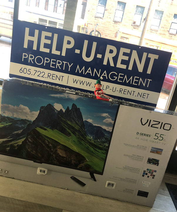 "Help-U-Rent has some TVs to giveaway! Marv approves of the 55'' of Vizio awesomeness.  How does one win a 55"" Smart Vizio flat screen?  All you have to do is sign a 12-month lease for any of the following apartment complexes!  College Lane Apartments Jackson Heights Apartments Graystone Apartments Sierra Vista Apartments - Spearfish Sierra Vista Apartments - Sturgis  Visit www.help-u-rent.us to view available units!  Help-U-Rent offers Home Rentals, Apartment Rentals, Commercial Property Rentals, Storage Unit Rentals, and Sturgis Rally Rentals in the beautiful Black Hills."