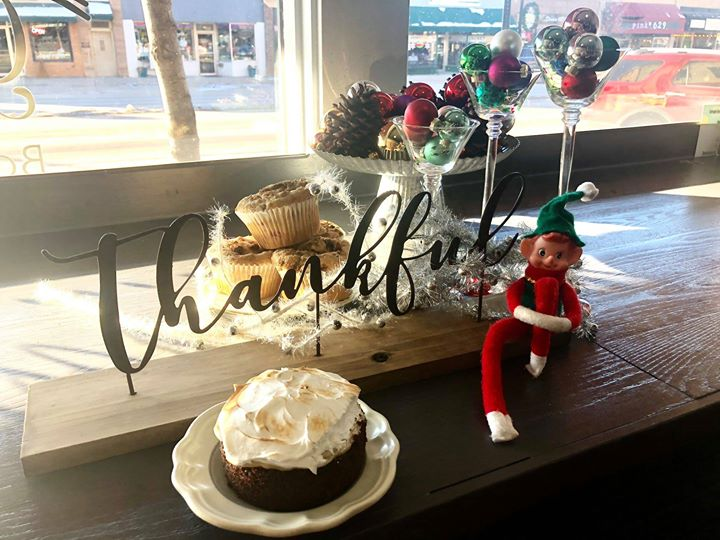 Marv definitely has a sweet tooth! He stopped by the delicious and very festive Green Oven Bakery and Crêpe Cafe!  Did you know you can order pies, cakes, rolls, and more for your holiday festivities? Hurry, orders must be in by December 20th! Stop into 608 N Main Street or call (605) 717-2454 and place your holiday order. Featured items include a yule log, assorted Christmas cookies, Cranberry Christmas Cake with Cream Cheese Frosting, Snowflake Pull Apart Monkey Bread, Berry Swirl Cheesecake, and Fluffy Dinner Rolls! Your tummy will be dancing with happiness (and maybe a little sugar high) with Green Oven order.  Green Oven is an eclectic little bakery and crêpe cafe with a daily rotation of about 6-8 freshly baked from scratch and most tasty crepes in the Black Hills!  #wheresmarv #marvisonthemove #local #bakery #supportinglocal #spearfishchamber #elfontheshelf #crepes #yulelog #christmas #desserts #sweets #cakes #holidaytreats