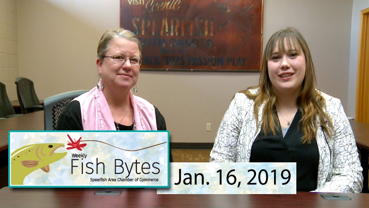 Welcome to Fish Bytes. The video newsletter with all the haps and events from the Spearfish Chamber of Commerce. Your hosts are Chamber Director Melissa Bart...