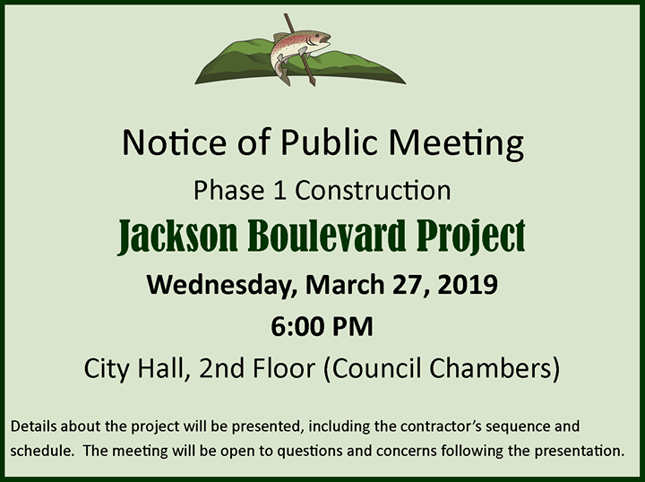 Upcoming public meeting for Jackson Boulevard.