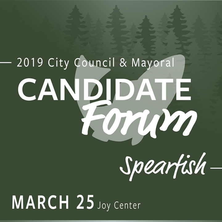 Tonight is the 2019 City Council & Mayoral Candidate Forum at the Joy Center.  The Ward 3 City Council Forum will begin at 6:00 p.m. Candidates include Greg Krier, Kelli Ewert, and Darick Eisenbraun.  The Mayoral Candidate Forum will begin at 6:45 p.m. Mayoral Incumbent Dana Boke and John Dale are running for a 3-year term for Mayor.  The Forum will be on Facebook Live.  Take this opportunity to learn more about the candidates, and remember to vote April 9th at the Senior Center.