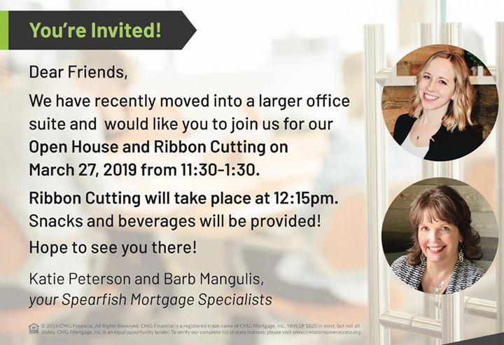 Join us for our #openhouse tomorrow for some killer food from @barbacoas_burritos and ribbon cutting with @spearfishchamber !! See you there!
