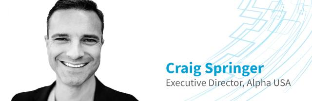 SPEAKER HIGHLIGHT  With Alpha USA, Craig Springer helps millions simply communicate faith-based messages. At #Leadercast Live 2019, he'll share how listening can drive a team toward the greatest goals. Hear Craig at Leadercast Spearfish.  https://craigmspringer.com/about/