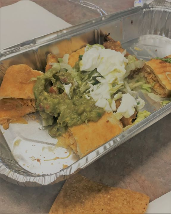 Los Cabos Mexican Restaurant brought us a surprise lunch treat today! It looked so good we forgot to take a picture before we tried a sample. Definitely delicious!