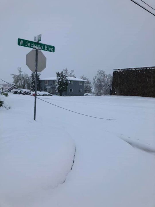 There is currently a NO TRAVEL ADVISORY road status issued within the City of Spearfish. Roads are nearly impassable for most vehicles.  We are dealing with numerous stuck vehicles and numerous power lines and trees down in the community.  Crews are working on priority routes only at this time to keep them open for emergencies.  CREWS ARE HAVING DIFFICULTY KEEPING PRIORITY ROUTES OPEN DUE TO STUCK VEHICLES BLOCKING ROADS.   We will update as the day goes on.  PLEASE DO NOT TRAVEL AT THIS TIME UNLESS IT IS AN EMERGENCY.