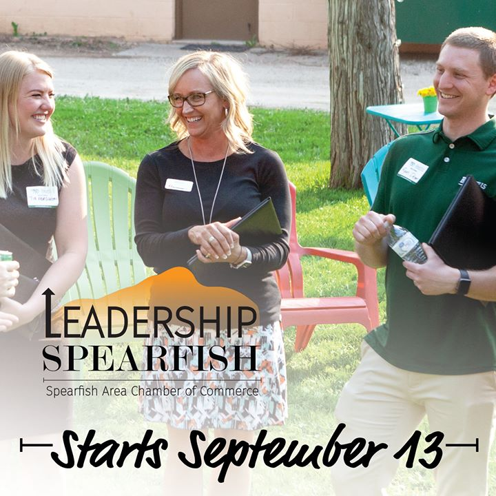 The diverse 9-month program covers all the industries in Spearfish and multiple professional development topics. Leadership Spearfish is open to anyone.  From new to lifetime residents or those starting out or established in their careers, Leadership Spearfish impacts your next steps.  Leadership Spearfish Application Deadline is the end of this week or until full!  Topics include: Communication Skills | Professional & Board Development | Social Media Outlets and Uses for Business | Education Components within the Community | City & State Government | Technology, Science, and the Future | History & Growth of Spearfish | Natural Resources, Agriculture & Tourism as Industries | Spearfish Business, Entrepreneurism & Industry | Customer Service Training | Problem Solving Skills  Fill out your application today.  https://spearfishchamber.org/wp-content/uploads/2019/07/Leadership-2019-20-Interactive-1.pdf